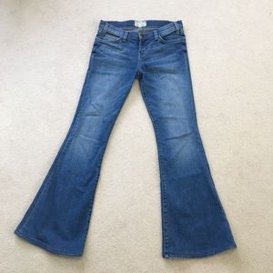 Current Elliot low rise flare jeans, size 26